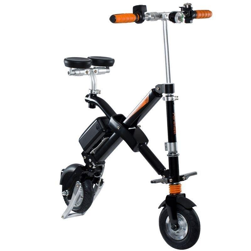 Bicicleta electrica foldabila Airwheel E6 Black, Viteza max. 20km/h, Putere motor 300W, Baterie Panasonic 247.9Wh