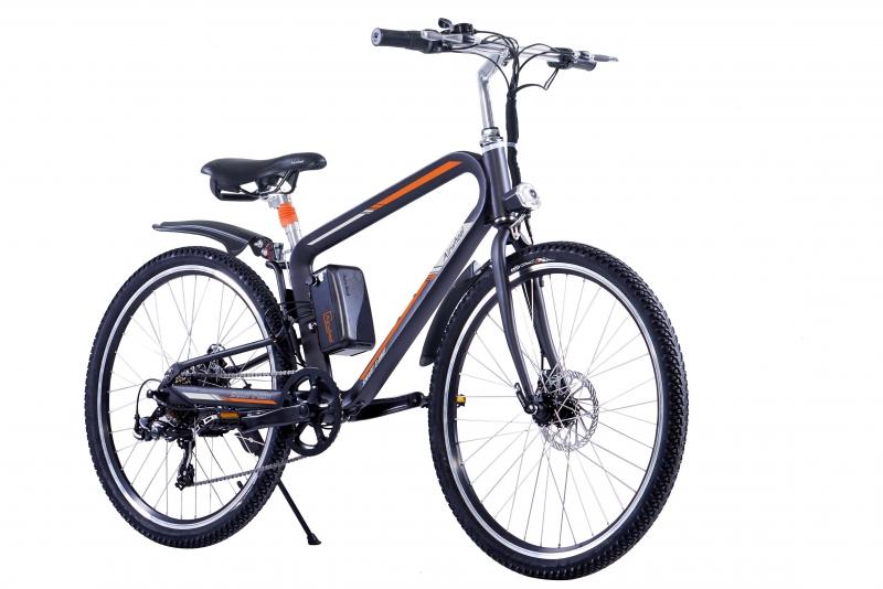 Bicicleta electrica Airwheel R8P Black, Viteza max. 20km/h, Putere motor 235W, Baterie LG 214.6Wh/36V