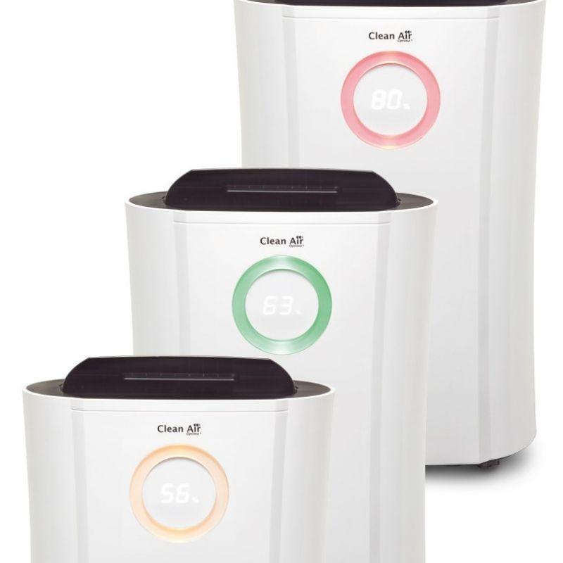 Dezumidificator si purificator de aer Clean Air Optima CA707, 20 l/zi, Debit 120 mc/h, Pentru 70mp, Display, Timer, Higrostat