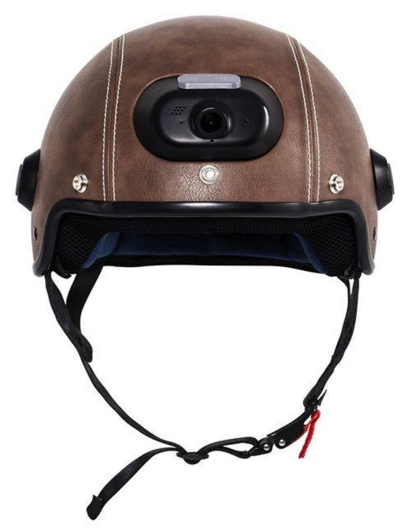 Casca inteligenta Airwheel C6 Brown, conectare Bluetooth, Wifi, inregistrare video