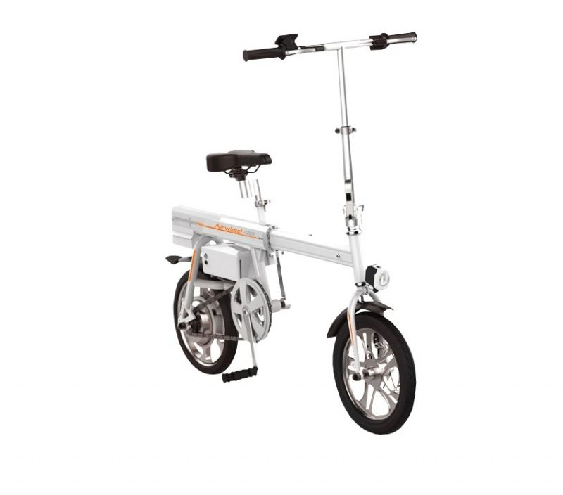 Bicicleta electrica foldabila Airwheel R6 White, Viteza max. 20km/h, Putere motor 235W, Baterie LG 244.2Wh