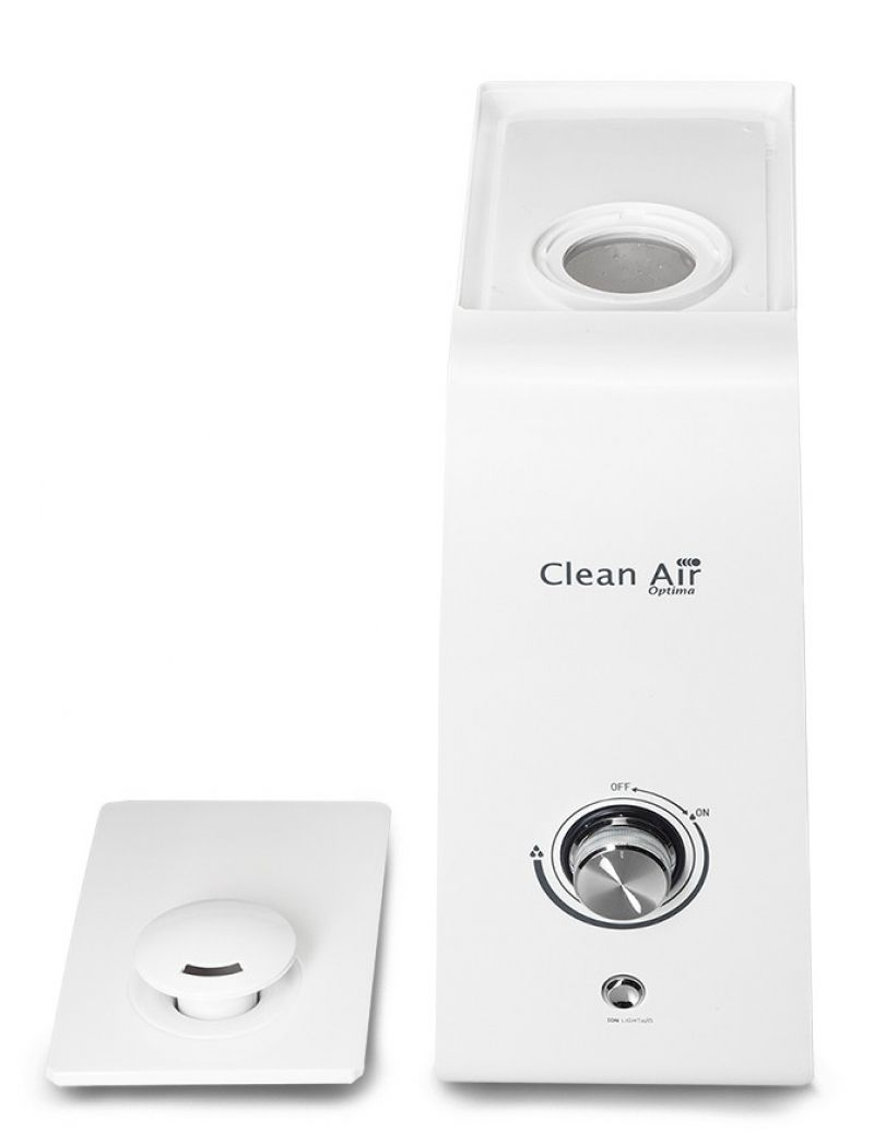 Umidificator si purificator Clean Air Optima CA601, Ionizare, Rata umidificare 300 ml/ora, Consum 30W/h, Pentru 35mp