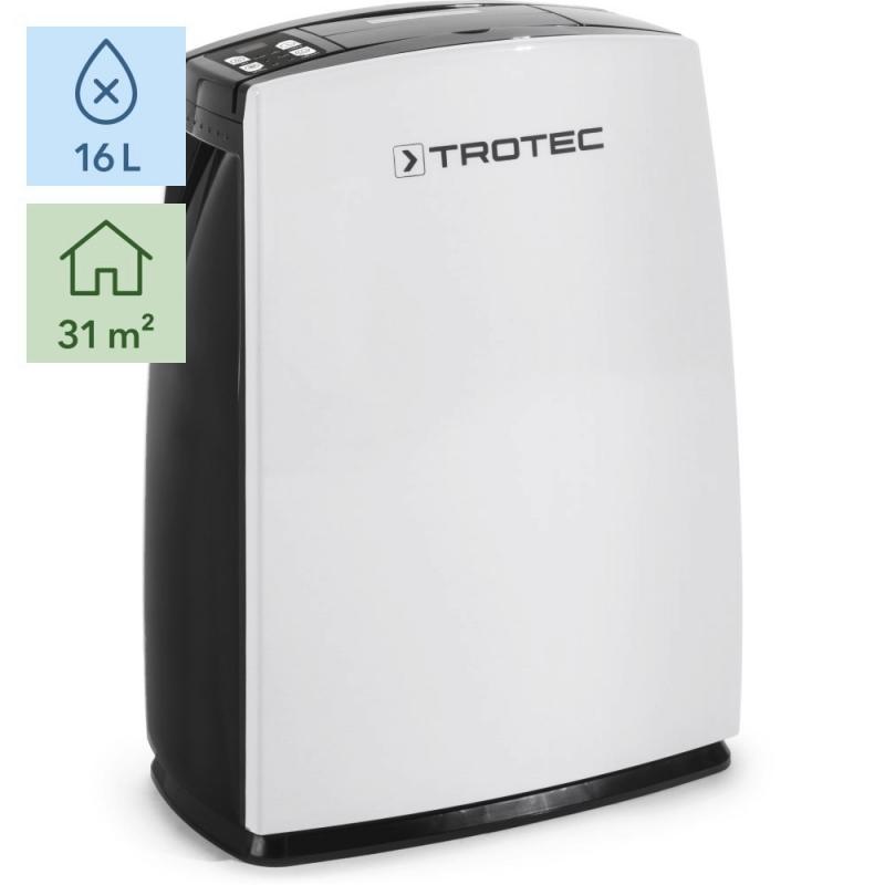 Dezumidificator Trotec TTK51E, 16l/zi, Debit 126mc/h, Pentru spatii de pana la 31mp, Higrostat reglabil