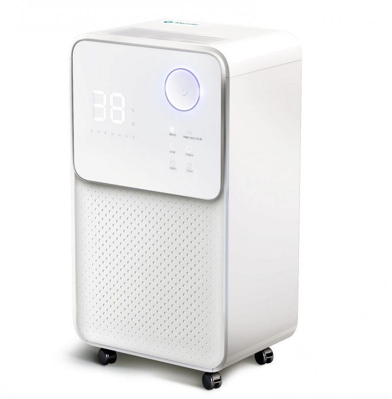 Dezumidificator AlecoAir D12 ECO,12 l /24h, Uscare Rufe, Ionizare, Display digital, Higrostat, Timer, Debit 120 mc/h,