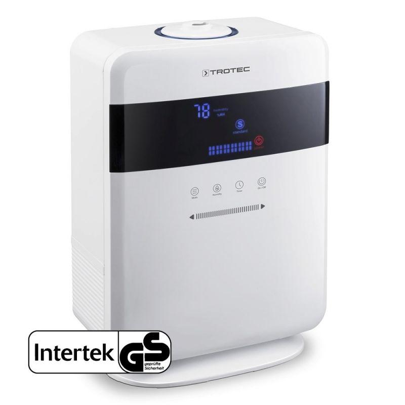 Umidificatorul cu ultrasunete Trotec B6E, Higrostat, Display, Timer, Ionizare, Difuzor aroma, Consum 25W/h, Pentru 30mp