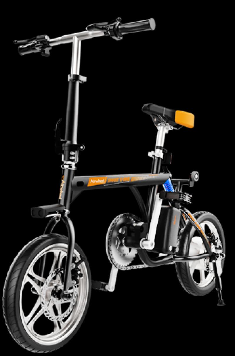 Bicicleta electrica pliabila Airwheel R3 Black, Viteza max. 20km/h, Putere motor 235W, Baterie Panasonic 214.6Wh/36V