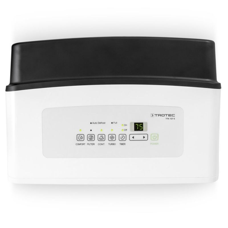 Dezumidificator Trotec TTK127E, 50l/zi, Debit 345mc/h, Pentru spatii de pana la 150mp, Timer, Higrostat, Functie confort