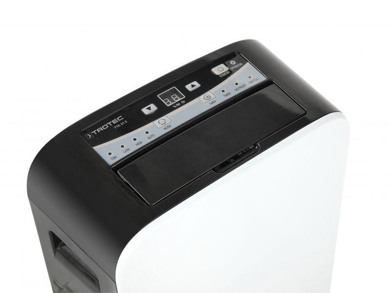 Dezumidificator Trotec TTK31E, 12l/zi, Debit 120mc/h, Pentru spatii de pana la 15mp, Display, Timer, Higrostat reglabil, Uscare