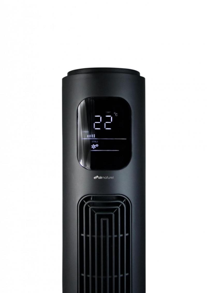 Ventilator turn Air Naturel Fantasy Black, Telecomanda, Timer, Control digital, Consum 28-30-35 W/h, Pentru 20mp