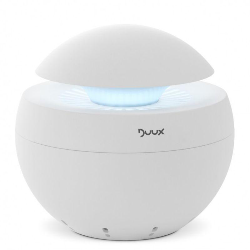 Purificator aer Duux alb, Difuzor aroma, Ionizare, Debit aer 68 mc/ora, Consum 5W/h, Veioza, Filtrare cu hepa si carbune