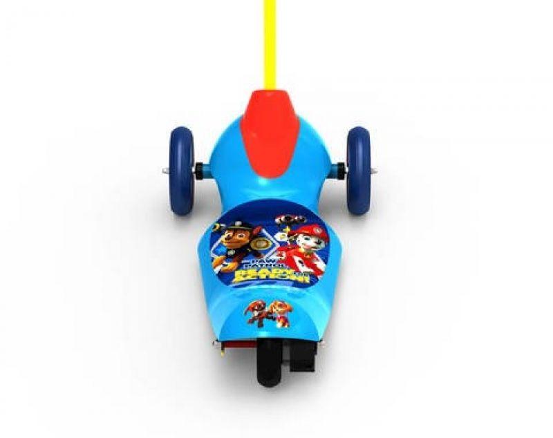 Trotineta electrica pentru copii Pulse Paw Patrol cu 3 roti si Safe Start, Viteza 2,5km/ora, Putere motor 6W