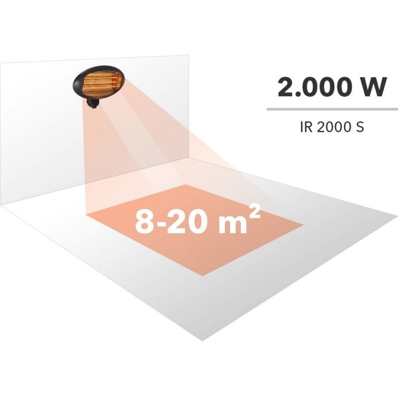 Radiator infraroşu cu tuburi de quartz Trotec IR 2000 S