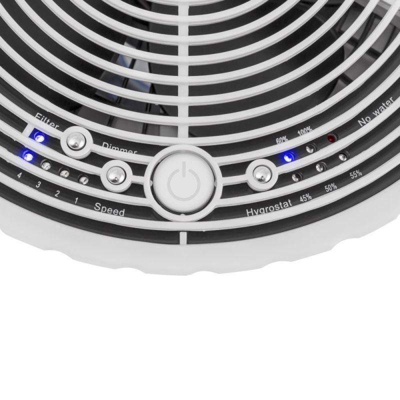 Umidificator Trotec B25 E. LED-uri de control, Rata umidificare 350 ml/ora, Consum 6W/h, Pentru 24mp, Higrostat