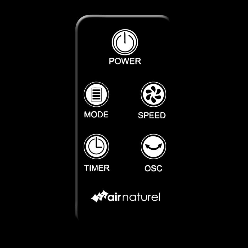Ventilator turn Air Naturel Column, Debit 455 mc /h, Telecomanda, Timer, Control digital, Consum 28-50 W/h, 3 trepte