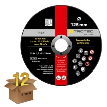 Disc de taiere metal INOX AD-125-MI, pachet 12 bucați