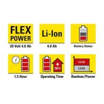 Acumulator suplimentar Flexpower 20V 4,0 Ah