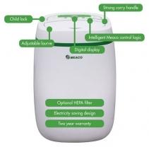 Resigilat! Dezumidificator si purificator cu consum redus de energie Meaco UK12L, 12 l / zi, 100 mc/ h, Pentru 30mp, Higrostat