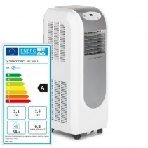 Aer conditionat portabil Trotec PAC 2000E, Capacitate 7.200 Btu, Debit 330mc/ora, Telecomanda, Display, Pentru 26mp
