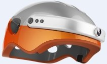 Casca inteligenta Airwheel C5, inregistrare video, conectare Bluetooth, Wi-Fi Orange