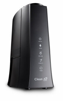 Umidificator si purificator Clean Air Optima CA603new, Display, Timer, Rata umidificare 300 ml/ora, Consum 38W/h, Difuzor aroma