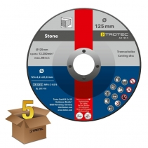 Disc pentru taiere piatra AD125S  Trotec, pachet 5 bucati