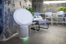 Purificator aer Duux Solair, Filtru HEPA, Filtru Carbon Activ, Debit aer 270 mc/ora, Mod ECO, Pentru 40mp, Lumina veghe RGB