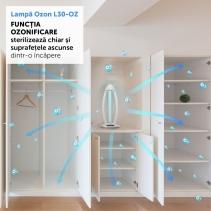 Lampa sterilizare cu ozon AlecoAir L30-OZ TOWER, Telecomanda