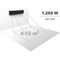 Radiator obscur IRD1200 cu 3 trepte de incalzire pana la 1200 W, display LED, telecomanda