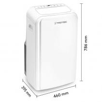 Aer Conditionat casnic Trotec PAC 3000X A+, Capacitate 10.000 Btu, Debit 420 mc/h, Telecomanda, Display, Pentru 40 mp