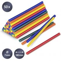 Set batoane colorate de lipici fierbinte Trotec, 50 bucati, Ø 7 mm