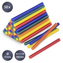 Set batoane colorate de lipici fierbinte Trotec, 50 bucati, Ø 11 mm