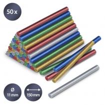 Set batoane cu sclipici de lipici fierbinte Trotec, 50 bucati, Ø 11 mm