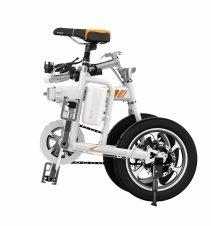 Bicicleta electrica pliabila Airwheel R5 White, Viteza max. 20km/h, Putere motor 235W, Baterie Panasonic 214.6Wh/36V