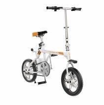 Bicicleta electrica pliabila Airwheel R3 White, Viteza max. 20km/h, Putere motor 235W, Baterie Panasonic 214.6Wh/36V
