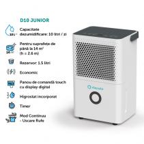 Dezumidificator AlecoAir D10 Junior,10 litri/zi, Uscare Rufe, Display digital, Debit Aer 80 mc/h,Higrostat, Timer, Auto-restart