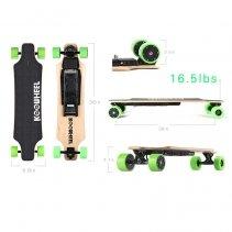 Skateboard Electric Koowheel D3M Green, Putere motor 2 x 250W, Baterie LG 36V/4.4Ah