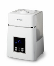 Umidificator si purificator Clean Air Optima CA604 white, Display, Timer, Rata umidificare 400ml/ora, Consum 38-138W/h, 3 trepte