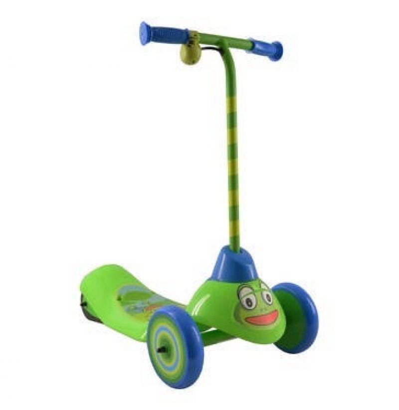 Trotineta electrica pentru copii Pulse Frog cu 3 roti si Safe Start, Viteza 2,5km/ora, Putere motor 6W