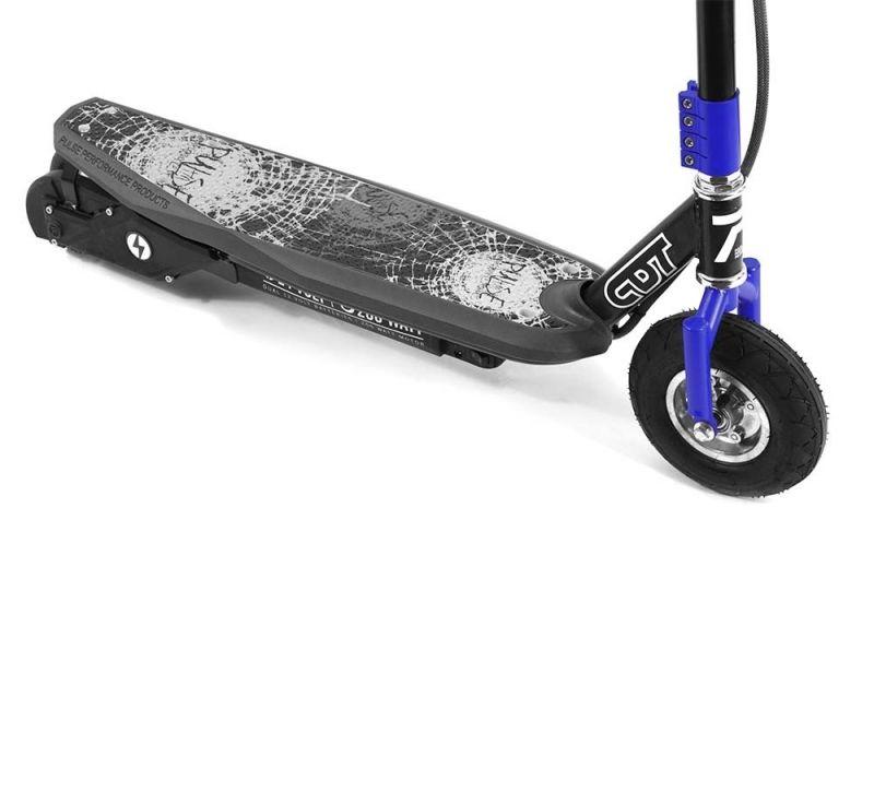 Trotineta electrica Pulse Sonic 200 W Blue, Viteza max. 20km/ora,  Putere motor 200W, Baterie din plumb 24V